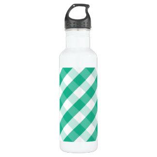 Garrafa Teste padrão branco verde simples do guingão de St