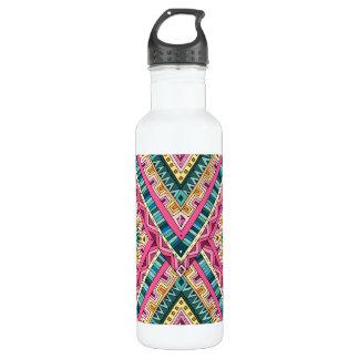 Garrafa Teste padrão tribal abstrato colorido brilhante de