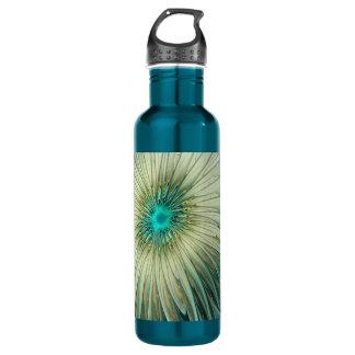 Garrafa Trigo abstrato moderno de turquesa da flor da