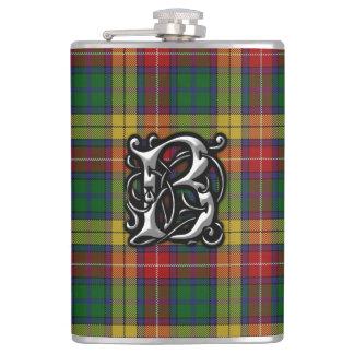 Garrafa velha de Scotland do Tartan de Buchanan do Cantil