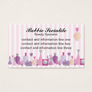 Garrafas da beleza cartão de visitas