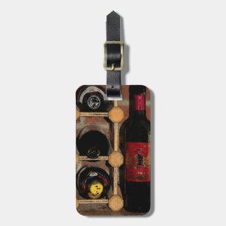 Garrafas de vinho etiqueta de bagagem