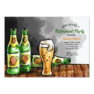 Garrafas do convite da cerveja