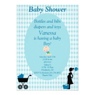 Garrafas e fraldas dos babadores e bebé dos brinqu convites personalizado