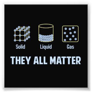 Gás contínuo líquido - eles toda a matéria impressão de foto