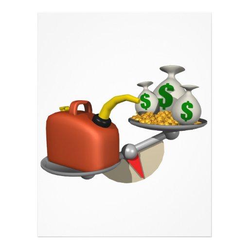 Gás contra o dinheiro modelo de panfletos