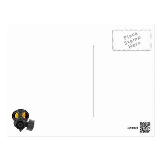 gasmask do apocalipse cartão postal