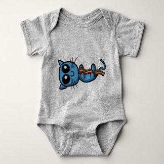 Gatinho azul que guardara a camisa da tira de