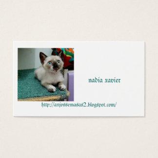 gatinho charmoso cartão de visitas