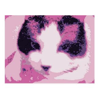 gatinho corajoso do sapato de neve cartão postal