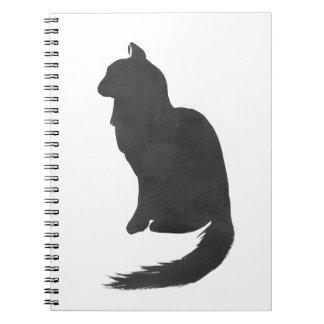 Gatinho da tinta caderno