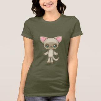 Gatinho de Kawaii Camiseta