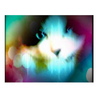 gatinho do arco-íris do sapato de neve cartão postal