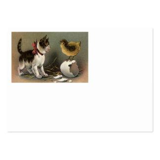 Gatinho do gato do ovo do pintinho da páscoa cartão de visita