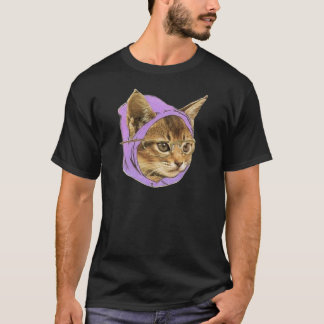 Gatinho do hipster camiseta