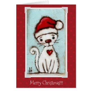 Gatinho do Natal - cartão de Natal