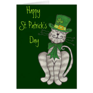 Gatinho irlandês - cartão do dia de St Patrick