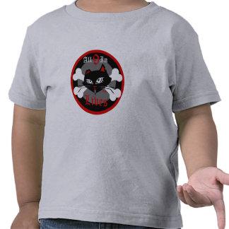 Gatinho mau da criança para meninos T de 9 vidas T-shirts