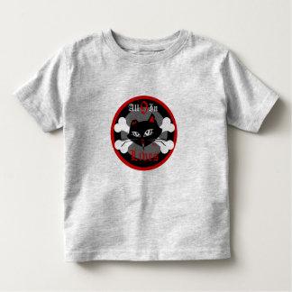 Gatinho mau da criança para meninos T de 9 vidas Tshirts