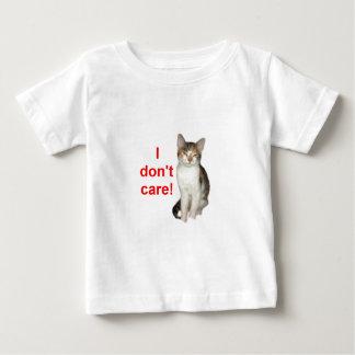 Gatinho sem corte camiseta para bebê