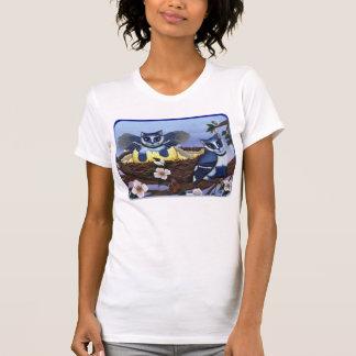 Gatinhos de Jay azul, camisa da arte da fantasia