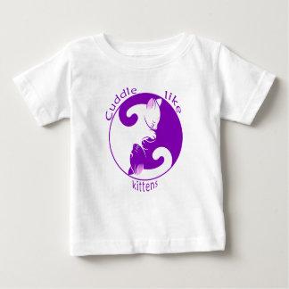 Gatinhos do afago camiseta para bebê