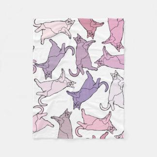 Gatinhos em toda parte! cobertor de lã