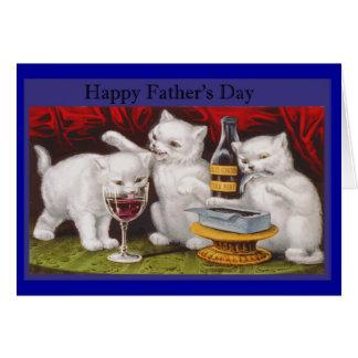 Gatinhos impertinentes do dia dos pais feliz cartão comemorativo