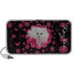 Gatinhos preciosos & flores cor-de-rosa dos gatos caixinha de som para mp3