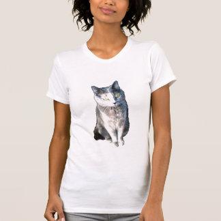 Gato 11, colher ocasional das senhoras t-shirts