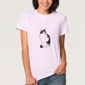 Gato 12, boneca das senhoras (cabida) camisetas