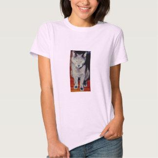 Gato #6, boneca das senhoras (cabida) tshirt