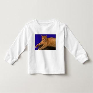 Gato 8, a luva longa do miúdo t-shirt