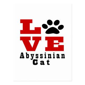 Gato Abyssinian Designes do amor Cartão Postal