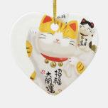 Gato afortunado japonês enfeites para arvore de natal