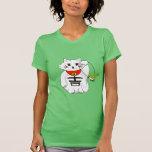 Gato afortunado Maneki Neko - Beckoning… com T-shirt