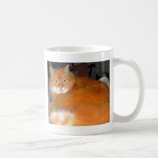 Gato alaranjado grande caneca de café