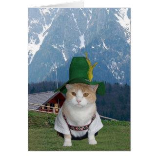 Gato alemão engraçado customizável cartoes