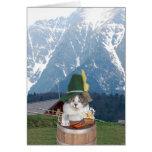 Gato alemão engraçado customizável/gatinho cartão