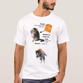 Gato antigravitante camiseta