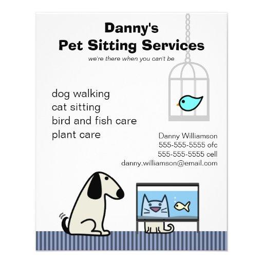 Gato & aquário do cão do baby-sitter do animal de  panfleto