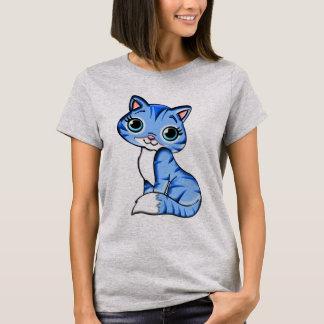 Gato azul bonito do gatinho camiseta
