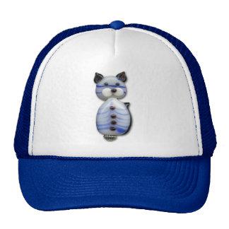 Gato Azul-Listrado do Vidro-Grânulo Boné