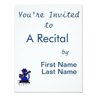 gato azul que joga a guitarra e o singing.png convite 10.79 x 13.97cm