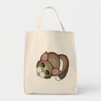 gato bonito bolsa tote