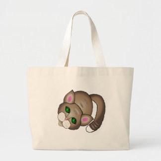 gato bonito bolsa tote grande