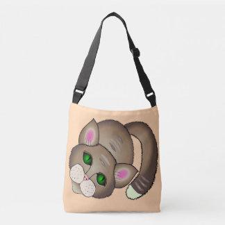 gato bonito bolsas carteiro