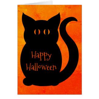 Gato bonito do Dia das Bruxas Cartão