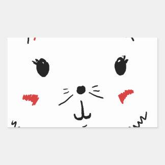 Gato bonito do gatinho adesivo retangular