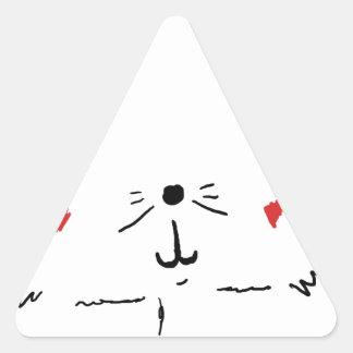 Gato bonito do gatinho adesivo triangular